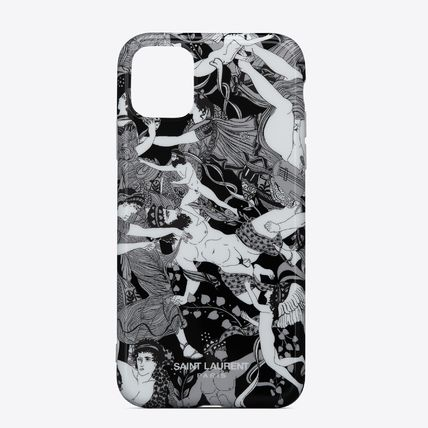 Saint Laurent RIVE DROITE Star Leopard Patterns Unisex Silicon Smart Phone Cases
