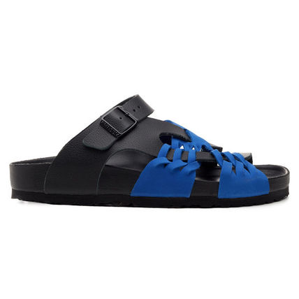 Unisex Plain Leather Street Style Sport Sandals
