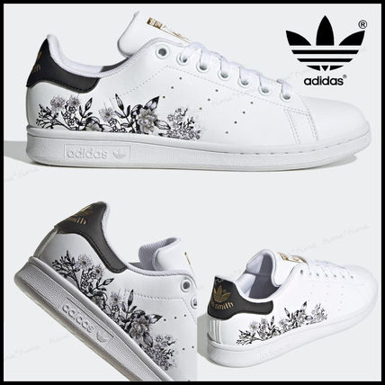 adidas STAN SMITH Flower Patterns Casual Style Faux Fur Street Style Plain