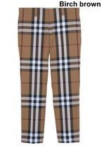 Burberry Other Plaid Patterns Wool Street Style Cropped Pants