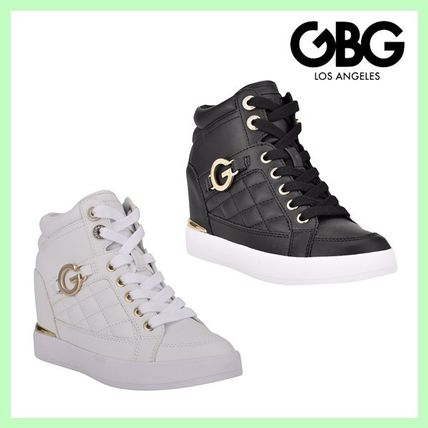 G BY GUESS Platform & Wedge Platform Casual Style Faux Fur Street Style Plain Logo