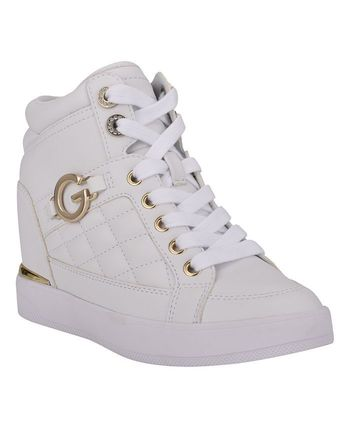 G BY GUESS Platform Casual Style Faux Fur Street Style Plain Logo