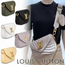 Louis Vuitton MULTICLES Casual Style 3WAY Chain Plain Leather Party Style