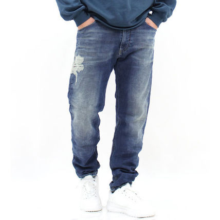 DIESEL JOGG JEANS Tapered Pants Sweat Plain Cotton Street Style Tapered Pants