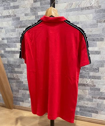 DIESEL Polos Pullovers Unisex Street Style Cotton Short Sleeves Logo 2
