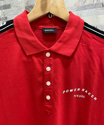 DIESEL Polos Pullovers Unisex Street Style Cotton Short Sleeves Logo 3