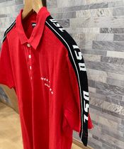 DIESEL Polos Pullovers Unisex Street Style Cotton Short Sleeves Logo 4