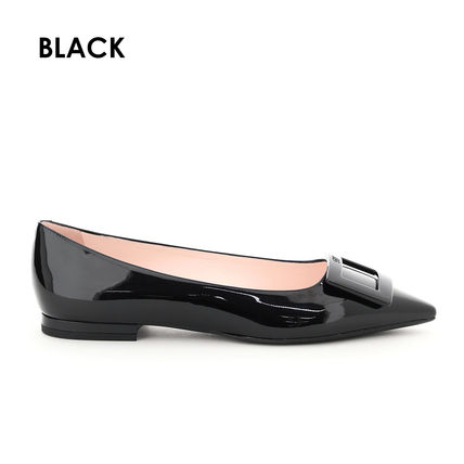 Roger Vivier Rubber Sole Casual Style Blended Fabrics Street Style Plain