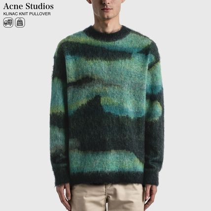 Ance Studios Sweaters Crew Neck Pullovers Street Style Long Sleeves Plain Cotton