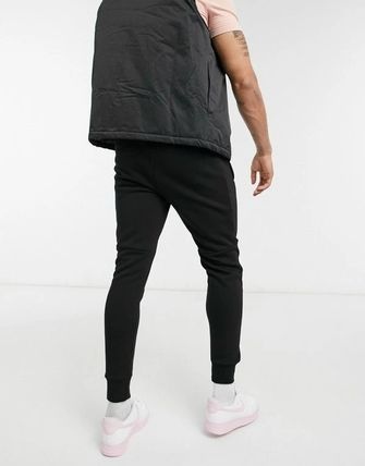 Sweat Street Style Plain Cotton Logo Joggers & Sweatpants