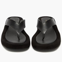 The Row Platform Rubber Sole Casual Style Suede Plain Leather