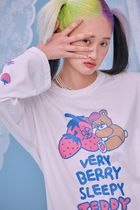 neon moon T-Shirts Crew Neck Street Style Long Sleeves Cotton Oversized 8