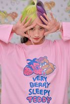 neon moon T-Shirts Crew Neck Street Style Long Sleeves Cotton Oversized 9