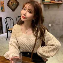 Cable Knit Casual Style Long Sleeves Plain Medium Sweaters