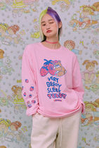neon moon T-Shirts Street Style Logos on the Sleeves T-Shirts 10