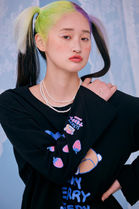 neon moon T-Shirts Street Style Logos on the Sleeves T-Shirts 16
