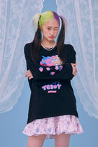 neon moon T-Shirts Street Style Logos on the Sleeves T-Shirts 18