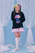 neon moon T-Shirts Street Style Logos on the Sleeves T-Shirts 19