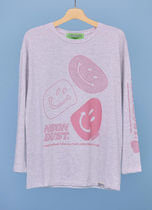neon moon Street Style Logos on the Sleeves T-Shirts