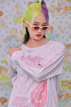 neon moon T-Shirts Street Style Logos on the Sleeves T-Shirts 4