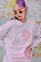 neon moon T-Shirts Street Style Logos on the Sleeves T-Shirts 5