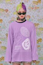 neon moon T-Shirts Street Style Logos on the Sleeves T-Shirts 11