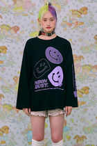 neon moon T-Shirts Street Style Logos on the Sleeves T-Shirts 17