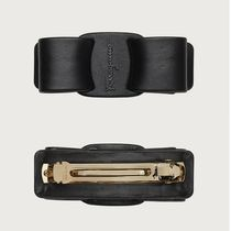 Salvatore Ferragamo Barettes Casual Style Leather Party Style Office Style