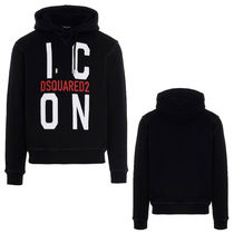 D SQUARED2 Pullovers Sweat Street Style Long Sleeves Cotton Logo Luxury