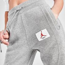 Nike AIR JORDAN Stripes Other Plaid Patterns Casual Style Sweat Street Style