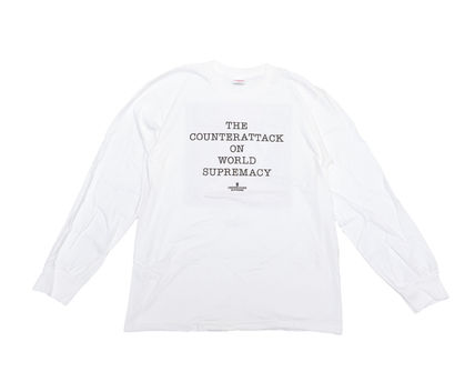 Supreme Long Sleeve T-shirt Unisex Collaboration Long Sleeves Cotton