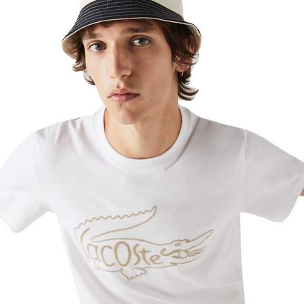 LACOSTE Crew Neck Crew Neck Unisex Cotton Short Sleeves Logo 3