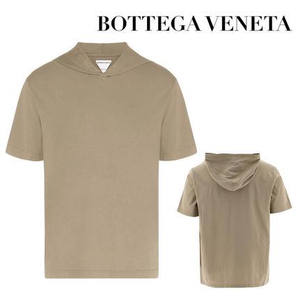 BOTTEGA VENETA Unisex V-Neck Plain Cotton Short Sleeves V-Neck T-Shirts
