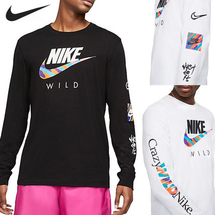 Nike Long Sleeve Crew Neck Long Sleeves Cotton Logos on the Sleeves