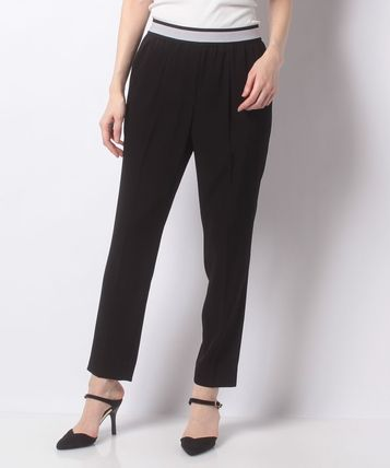 pierre cardin Casual Style Plain Office Style Center Pressed Pants