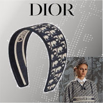 Christian Dior DIOR OBLIQUE Casual Style Party Style Elegant Style Headbands