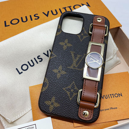 Louis Vuitton MONOGRAM Leather Logo Smart Phone Cases