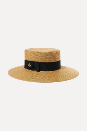 GUCCI Unisex Straw Boaters Straw Hats