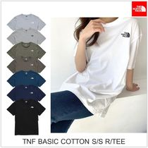 THE NORTH FACE Unisex U-Neck Short Sleeves Logo Outdoor T-Shirts