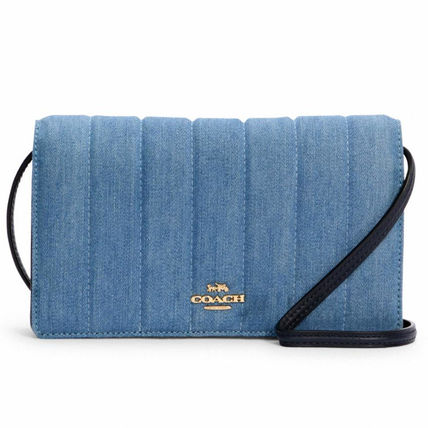 Coach Anna Foldover Crossbody Clutch With Quilting