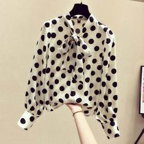 Dots Casual Style Street Style Long Sleeves Party Style