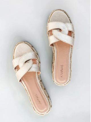 Open Toe Rubber Sole Casual Style Plain Leather Handmade