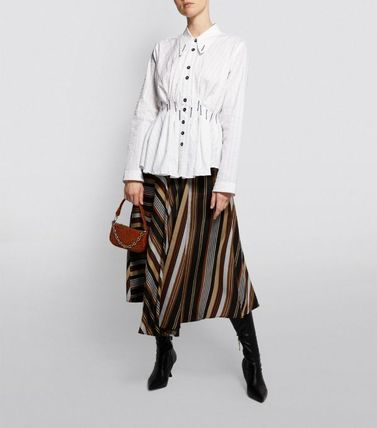 Other Plaid Patterns Casual Style Long Sleeves Plain Cotton