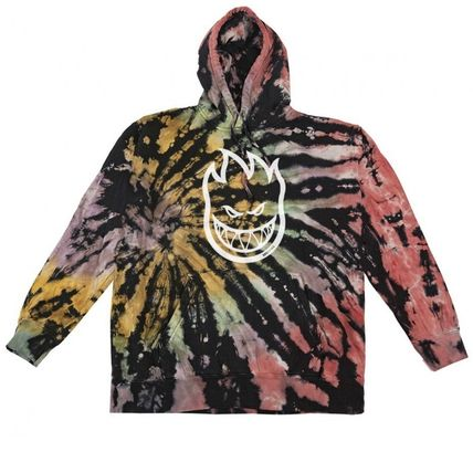 Pullovers Unisex Street Style Tie-dye Long Sleeves Cotton