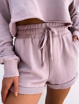 MISS LOLA Dresses Short Casual Style Street Style Long Sleeves Plain Co-ord 5