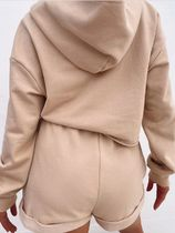 MISS LOLA Dresses Short Casual Style Street Style Long Sleeves Plain Co-ord 10