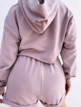 MISS LOLA Dresses Short Casual Style Street Style Long Sleeves Plain Co-ord 13