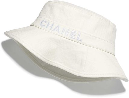 CHANEL CHANCE Unisex Bucket Hats Straw Hats