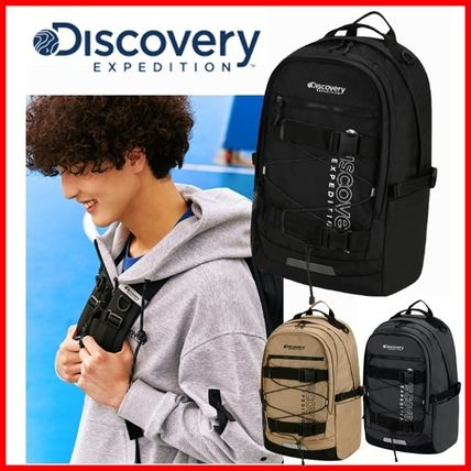 Logo Unisex 2WAY Plain Street Style Backpacks