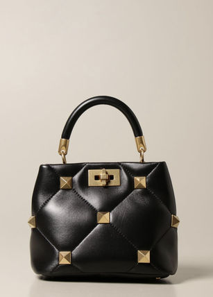 VALENTINO Lambskin 2WAY Plain Elegant Style Shoulder Bags